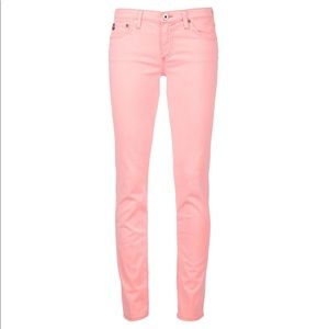 AG Jeans The Stilt Cigarette Jeans Neon Orange